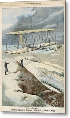 Wright Brothers At Kitty Hawk Metal Print