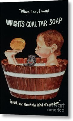 Wright�s Coal Tar 1920s Uk Baths Metal Print by The Advertising Archives