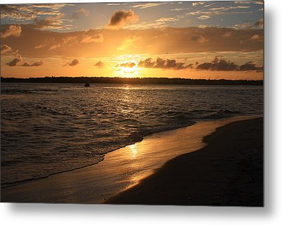 Wrightsville Beach Sunset - North Carolina Metal Print by Mountains to the Sea Photo