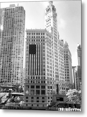 Wrigley Building Chicago Metal Print by Mike Maher
