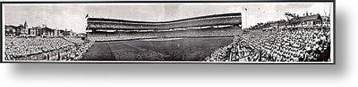 Wrigley Field 1929 Panorama Metal Print by Benjamin Yeager