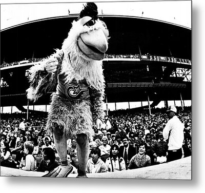 Wrigley Field Chickenman  Metal Print by Retro Images Archive