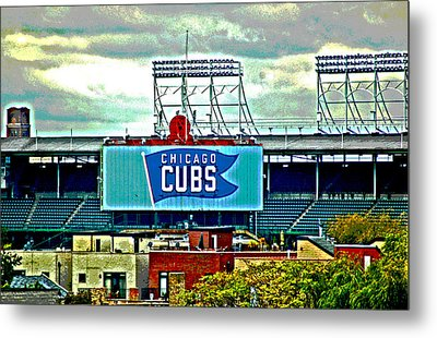 Wrigley Field Chicago Cubs Metal Print