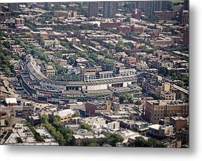 Wrigley Field - Home Of The Chicago Cubs Metal Print by Adam Romanowicz