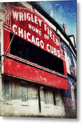 Wrigley Red Metal Print