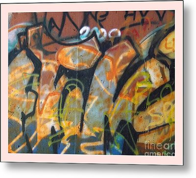 Writing On The Wall 1 Metal Print by Sara  Raber