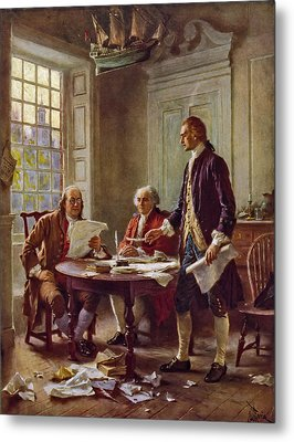 Writing The Declaration Of Independence 1776 Metal Print by DC Photographer