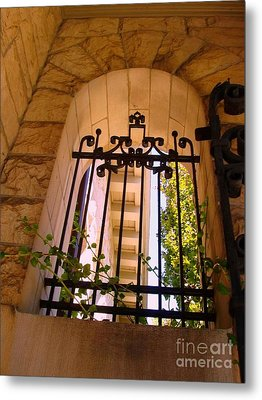 Metal Print featuring the photograph Wrought Iron Arch Window 1 by Becky Lupe