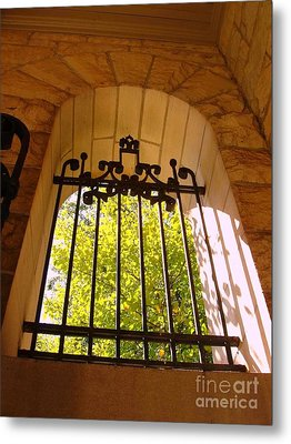 Metal Print featuring the photograph Wrought Iron Arch Window by Becky Lupe