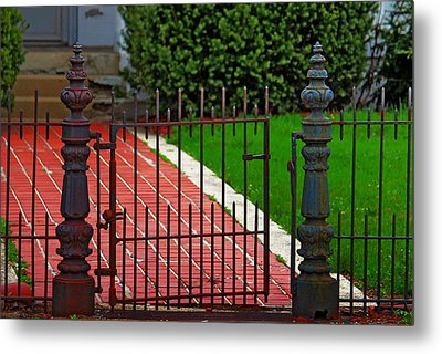 Metal Print featuring the photograph Wrought Iron Gate by Rowana Ray