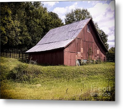 Wv Barn Metal Print by Gena Weiser