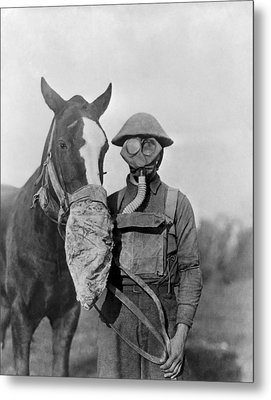 Wwi Gas Masks Metal Print by Otis Historical Archives, National Museum Of Health And Medicine