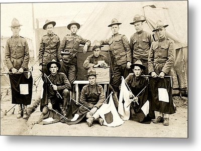 Wwi Us Army Signal Corps Metal Print by Historic Image