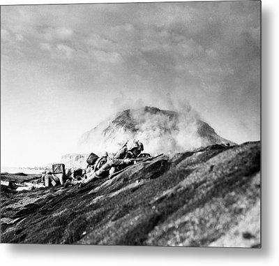 Wwii Iwo Jima Beachhead  Metal Print by Historic Image