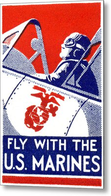 Wwii Marine Corps Aviation Metal Print by Historic Image