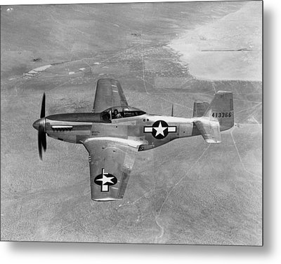 Wwii: Mustang Fighter Metal Print by Granger
