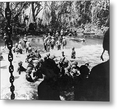 Wwii Papua New Guinea Ops Metal Print by Underwood Archives