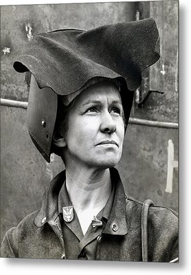 Wwii Rosie The Riveter Metal Print by Historic Image