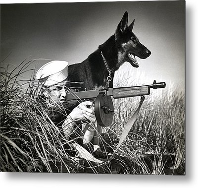 Wwii Us Coast Guard At Work Metal Print by Historic Image