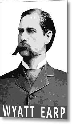 Wyatt Earp Legend Of The Old West Metal Print