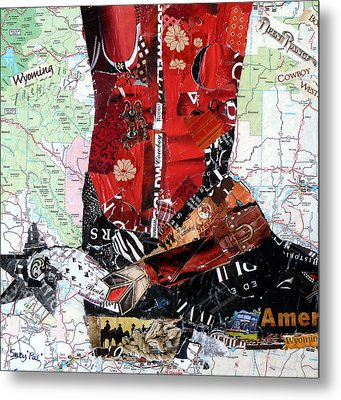Wyoming Boot Metal Print by Suzy Pal Powell
