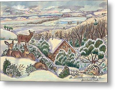 Wyoming Christmas Metal Print by Dawn Senior-Trask