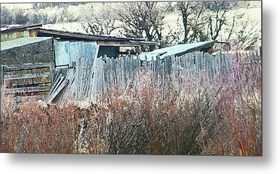 Wyoming Sheds Metal Print by Lenore Senior