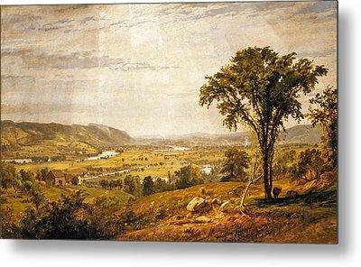 Wyoming Valley. Pennsylvania Metal Print by Jasper Francis Cropsey