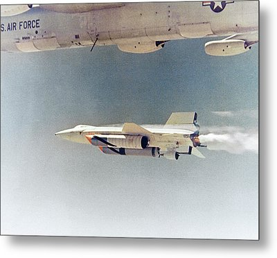 X-15 Launch From A Boeing B-52 Metal Print by Nasa