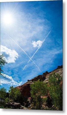 X Marks Metal Print