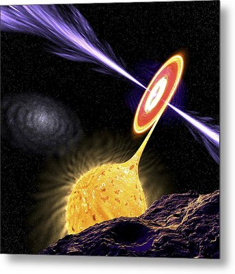 X-ray Binary System, Artwork Metal Print by Science Photo Library