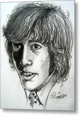 Metal Print featuring the drawing Robin Gibb by Patrice Torrillo