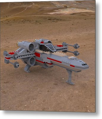 X-wing On The Ground Metal Print by John Hoagland