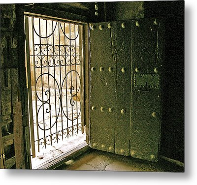 Xiv Century Church Door Metal Print