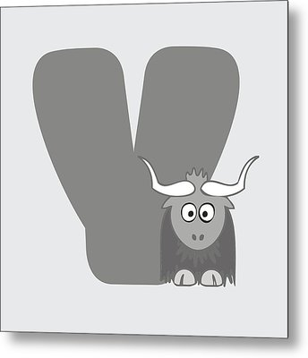 Y Metal Print by Gina Dsgn