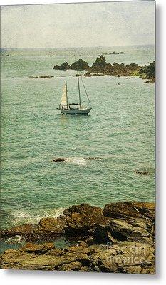 Yacht At Sea  Metal Print by Svetlana Sewell