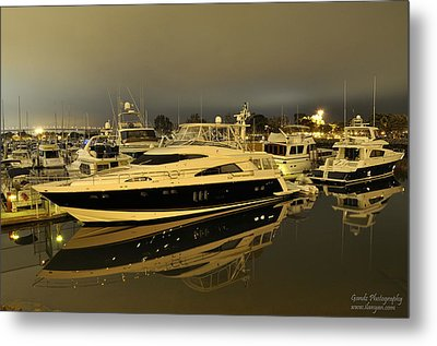 Metal Print featuring the digital art Yacht  by Gandz Photography