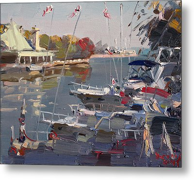Yachts In Port Credit  Metal Print by Ylli Haruni