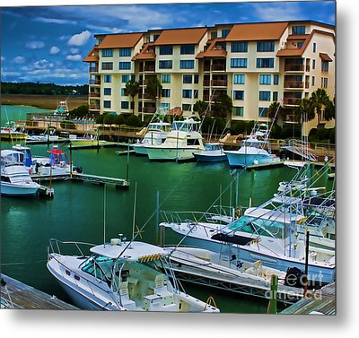 Yachts Of The Rich And Famous Metal Print by Dave Bosse