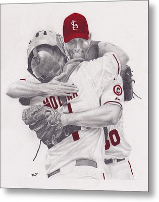 Yadi And Waino Metal Print