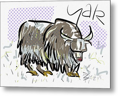 Yak Metal Print by Brett LaGue