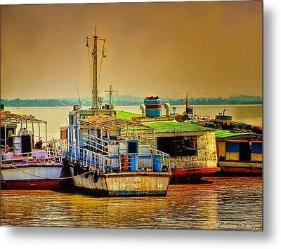 Yangon Harbour Metal Print by Wallaroo Images