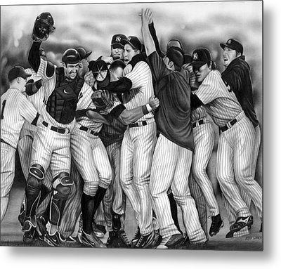 Yankee Celebration Metal Print by Jerry Winick