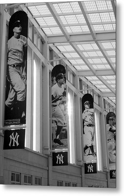Yankee Greats Of Yesteryear In Black And White Metal Print by Aurelio Zucco