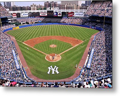 Yankee Stadium Metal Print by Allen Beatty