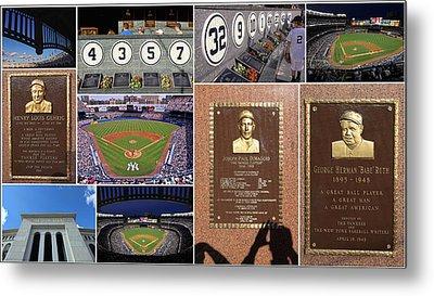 Yankee Stadium Collage 2 Metal Print by Allen Beatty