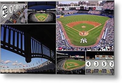 Yankee Stadium Collage 3 Metal Print by Allen Beatty