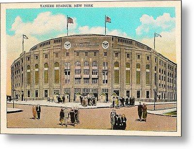 Yankee Stadium Postcard Metal Print