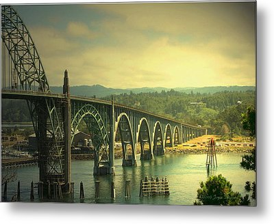 Yaquina Bay Bridge Or Metal Print