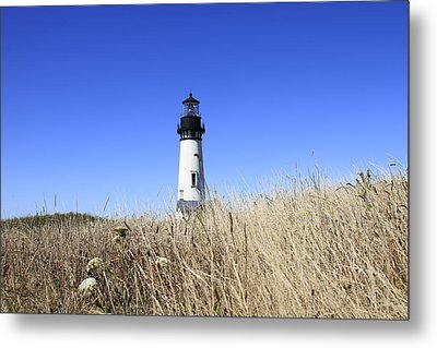 Yaquina Head Lighthouse Metal Print by David Gn
